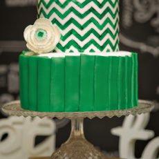 Green Chevron Cake