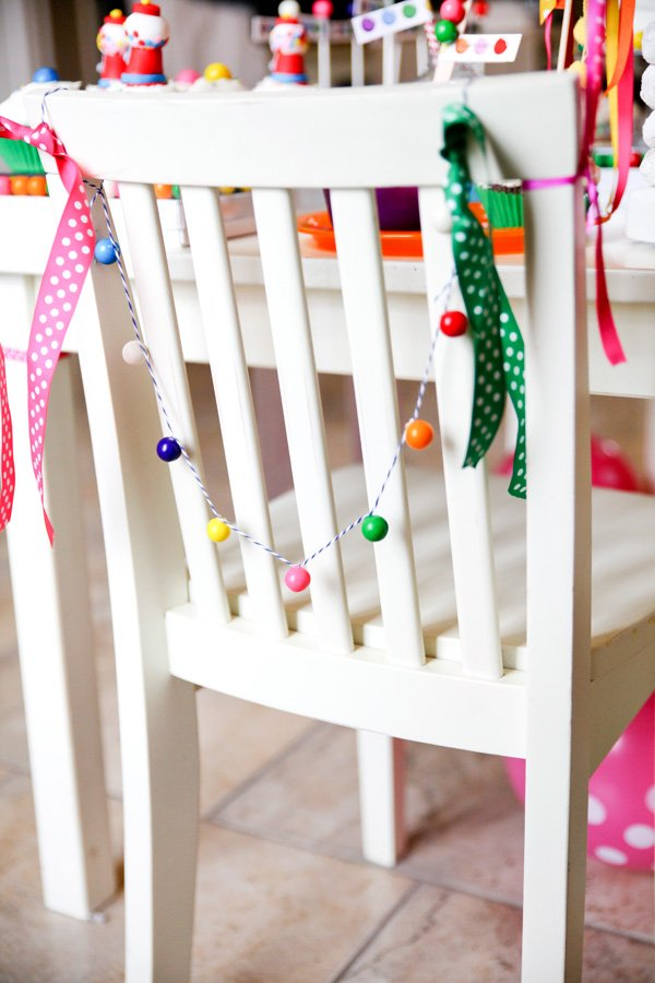Bubblegum Garland Chair Back