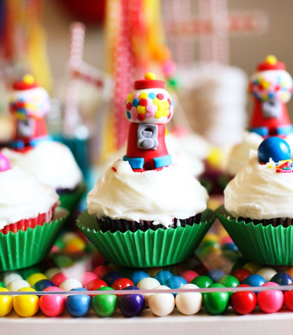 Gumball Machine Cupcake Toppers