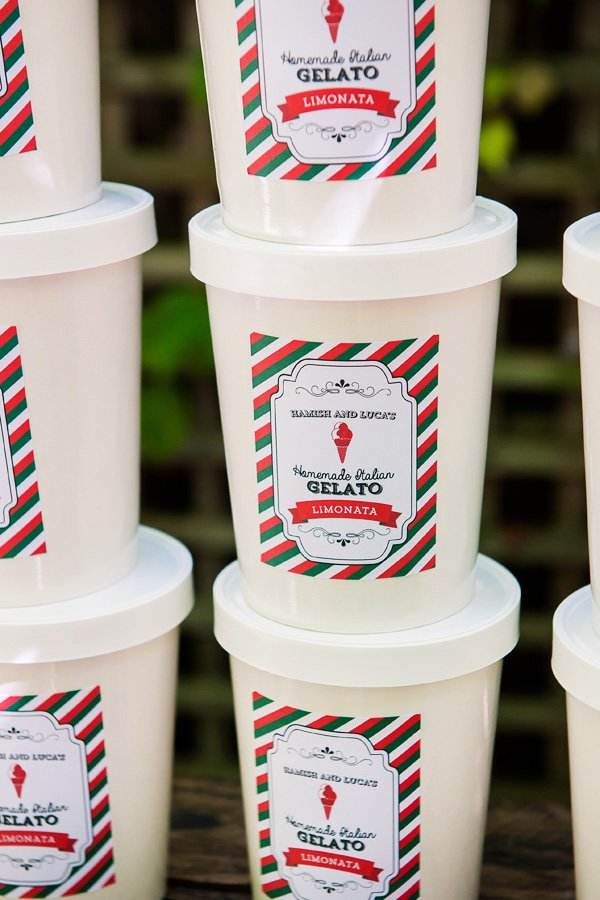 Homemade Italian Gelato with Italian inspired printables