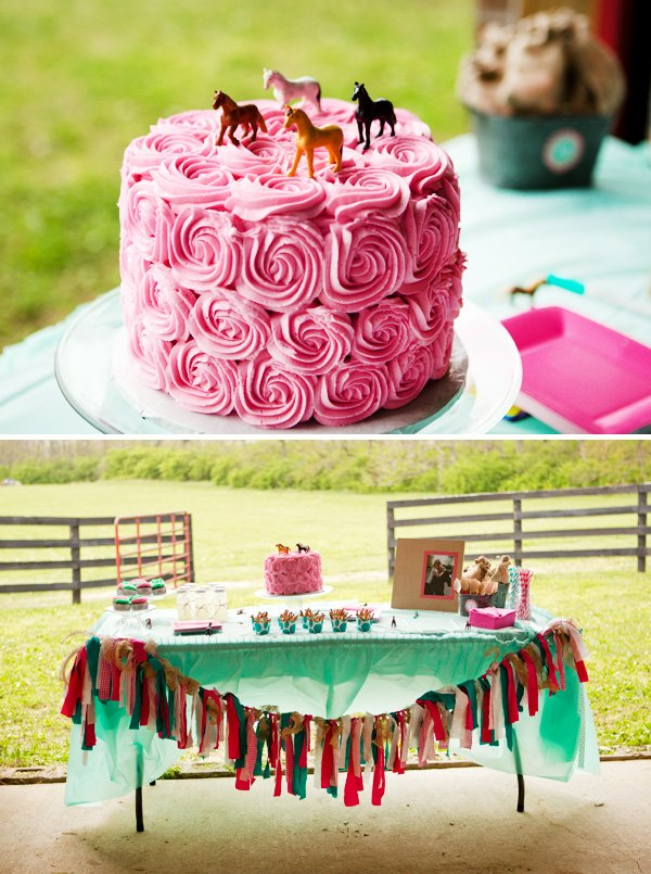 Pink Teal Horse Themed Birthday Party Hostess With The Mostess