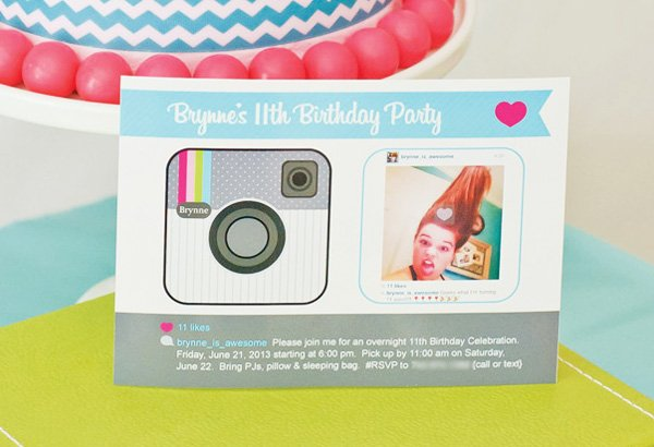 instagram party invitation