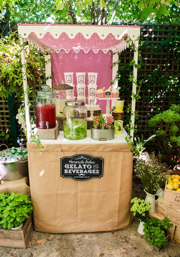 Italy Inspired Drink Station