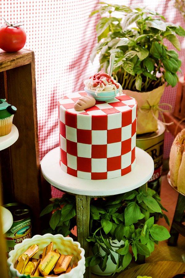 Italy inspired birthday cake