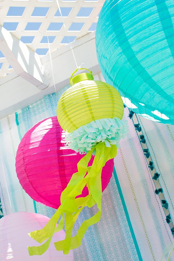 Colorful jellyfish paper lanterns