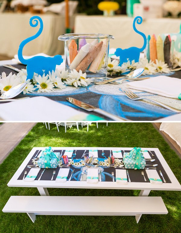 Chalkboard kids table