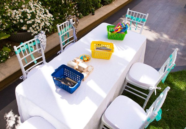 Fun, crafty kids table