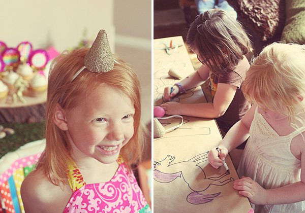 Glittery unicorn birthday headband