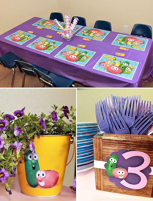 Kid's Veggie Tales Party