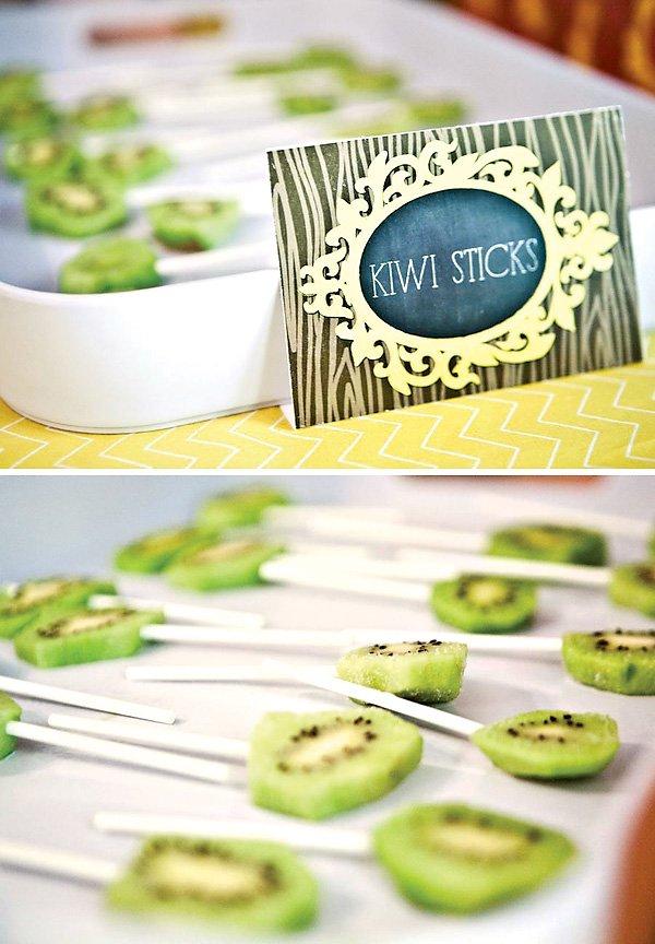kiwi lollipops