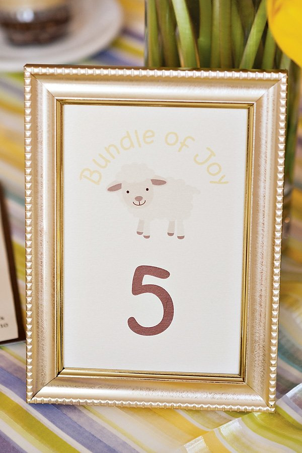 lamb table numbers