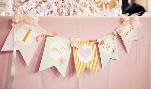 pretty baby shower banner