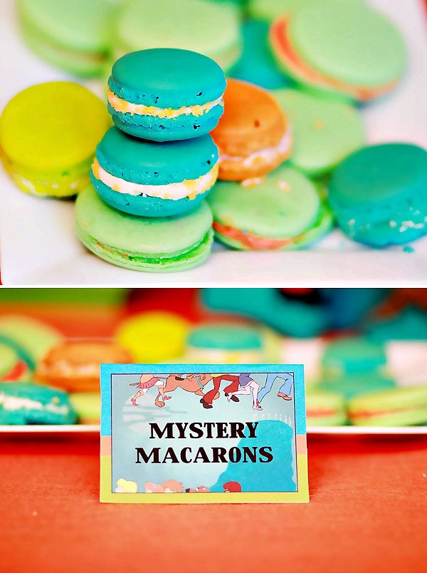 "Teal, Orange, and Green ""Mystery"" Macarons"