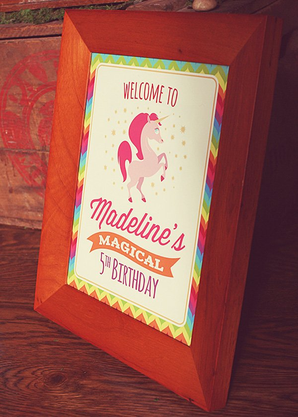 Magical birthday welcome sign