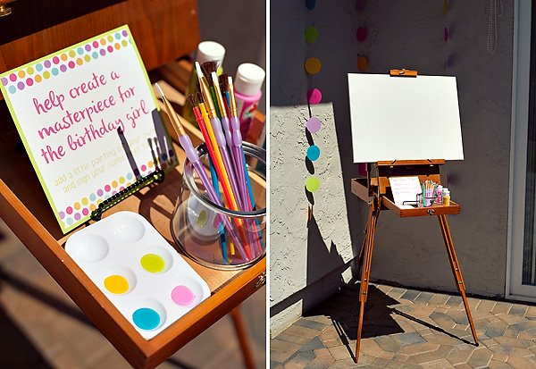 """""""Create a Masterpiece"""" paint party activity"""