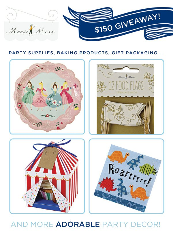 meri meri party supplies giveaway