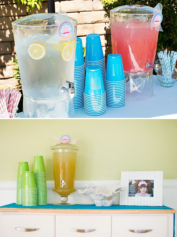 Mermaid party drinks