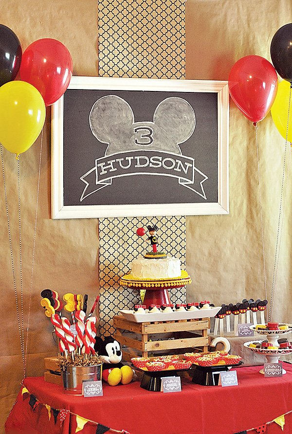 Mickey Mouse Theme Dessert Table