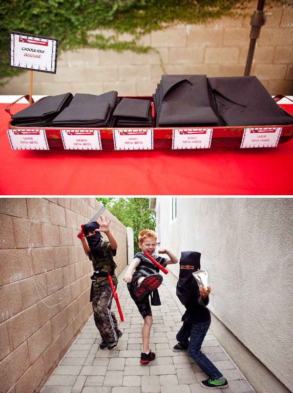 Ninja Birthday Party Costumes