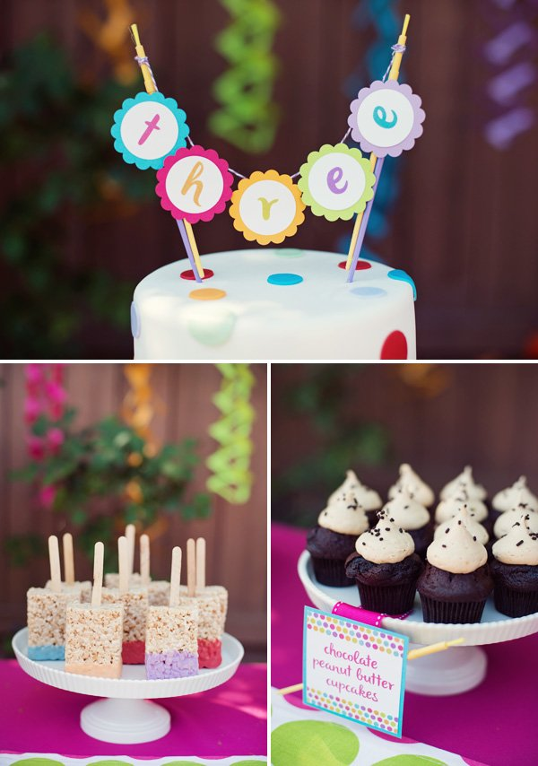 Polka Dot Amp Rainbow Paint Themed Birthday Party Hostess