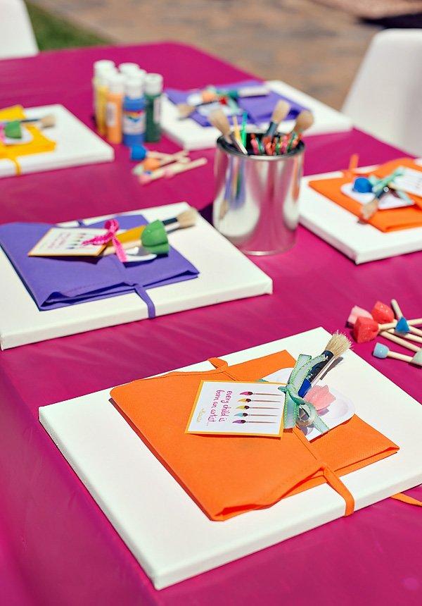 Polka Dot & Rainbow Paint Themed Birthday Party // Hostess