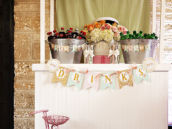 Cute vintage inspired drink station