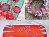 Firecracker birthday cake