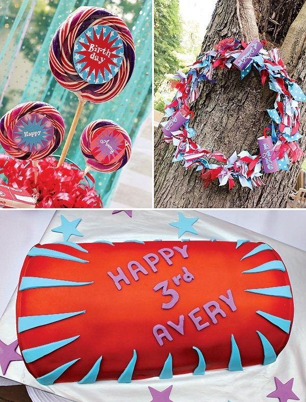 Firecracker birthday cake