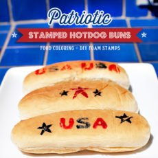 stamped hot dog buns DIY tutorial