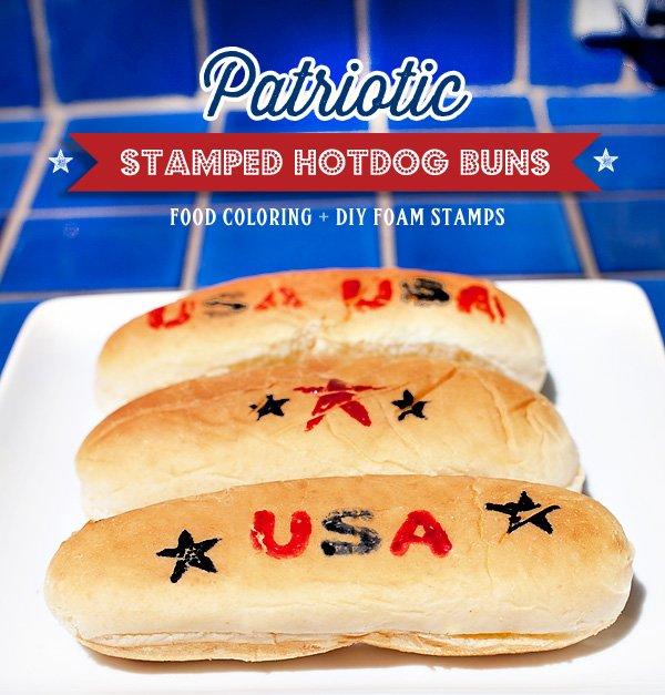 stamped hot dog buns DIY tutorial