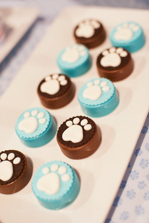 Paw Print Oreo Toppers