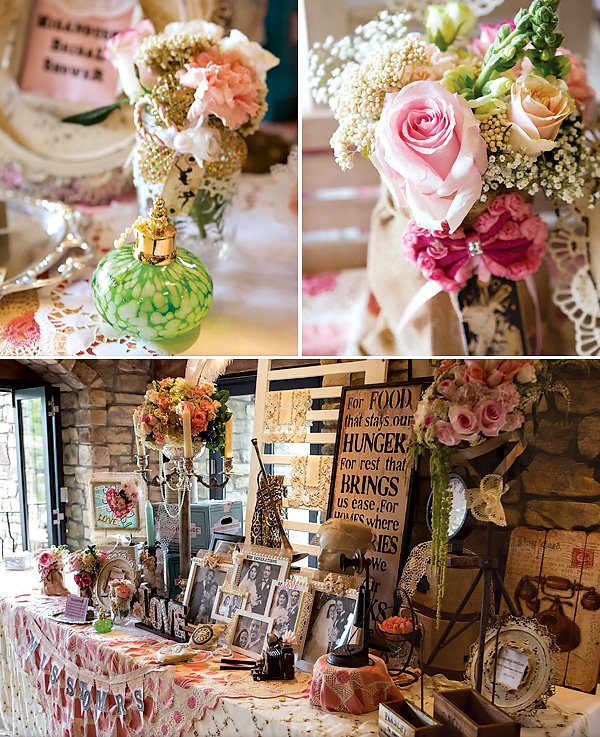 Vintage inspired party decorations