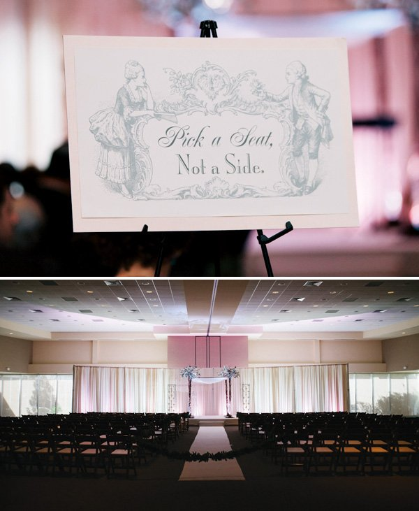 """Pick a Seat"" Wedding Sign"