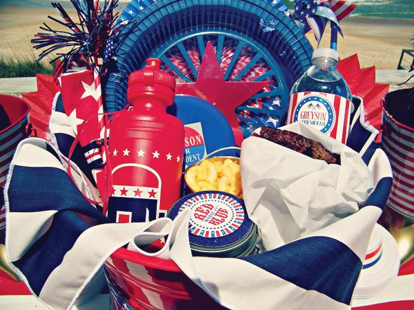Patriotic Picnic Lunch