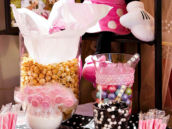 Pink Polka Dot Candy Buffet