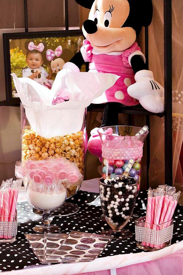 Pink Polka Dot Candy Buffet
