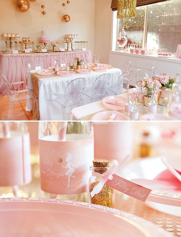 Pink and Gold Fairy Party Ideas