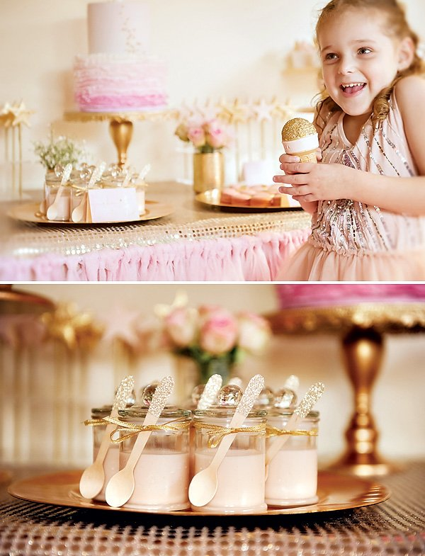 Pink and Gold Glitter Party Ideas