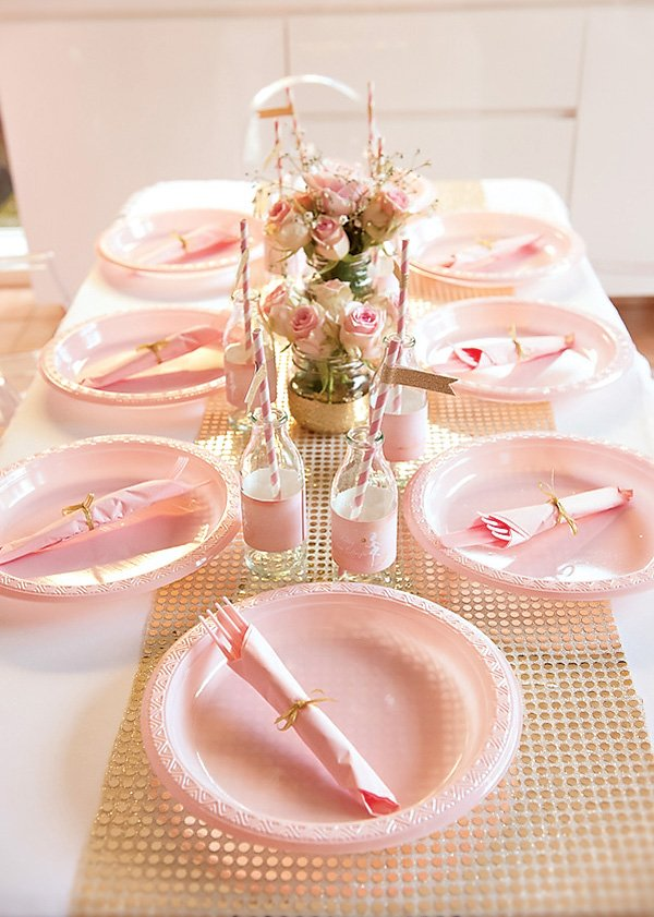 Pink and Gold Kid's Table