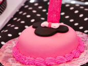 Pink Minnie Mouse Smash Cake