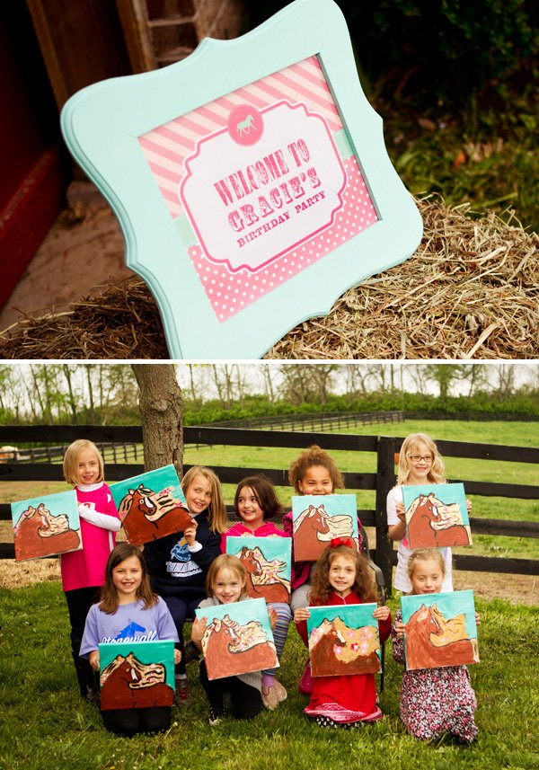 Horse Painting Party Activity