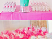 Pink Popcorn Party Favors