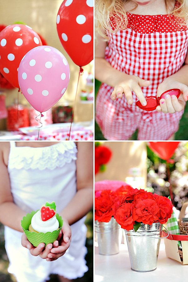 Pink and Red Strawberry Party Ideas