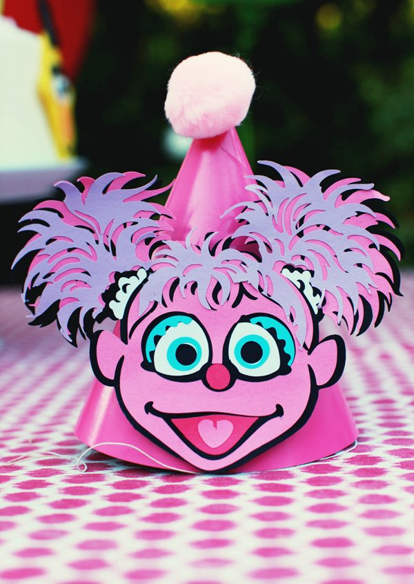 Pink Sesame Street Party Hat