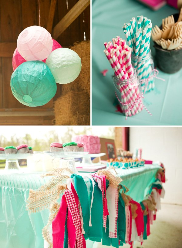 Pink & Teal Party Decorations