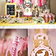 pink woodland party