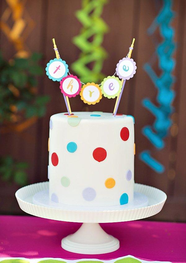 Polka Dot Amp Rainbow Paint Themed Birthday Party Hostess