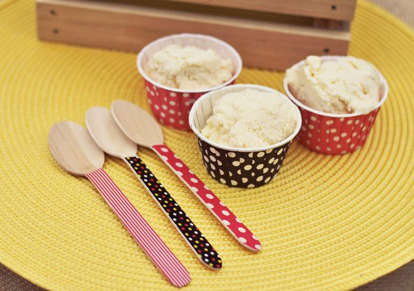 Polka Dot Ice Cream Cups