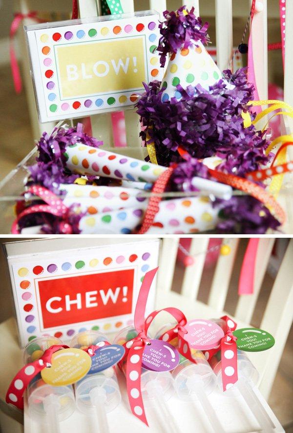 Rainbow Bubblegum Birthday Party