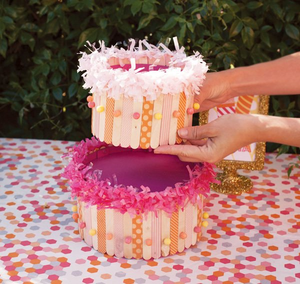 diy popsicle stick cake tutorial